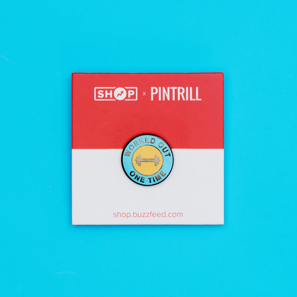 BuzzFeed x Pintrill Worked Out One Time Enamel Pin