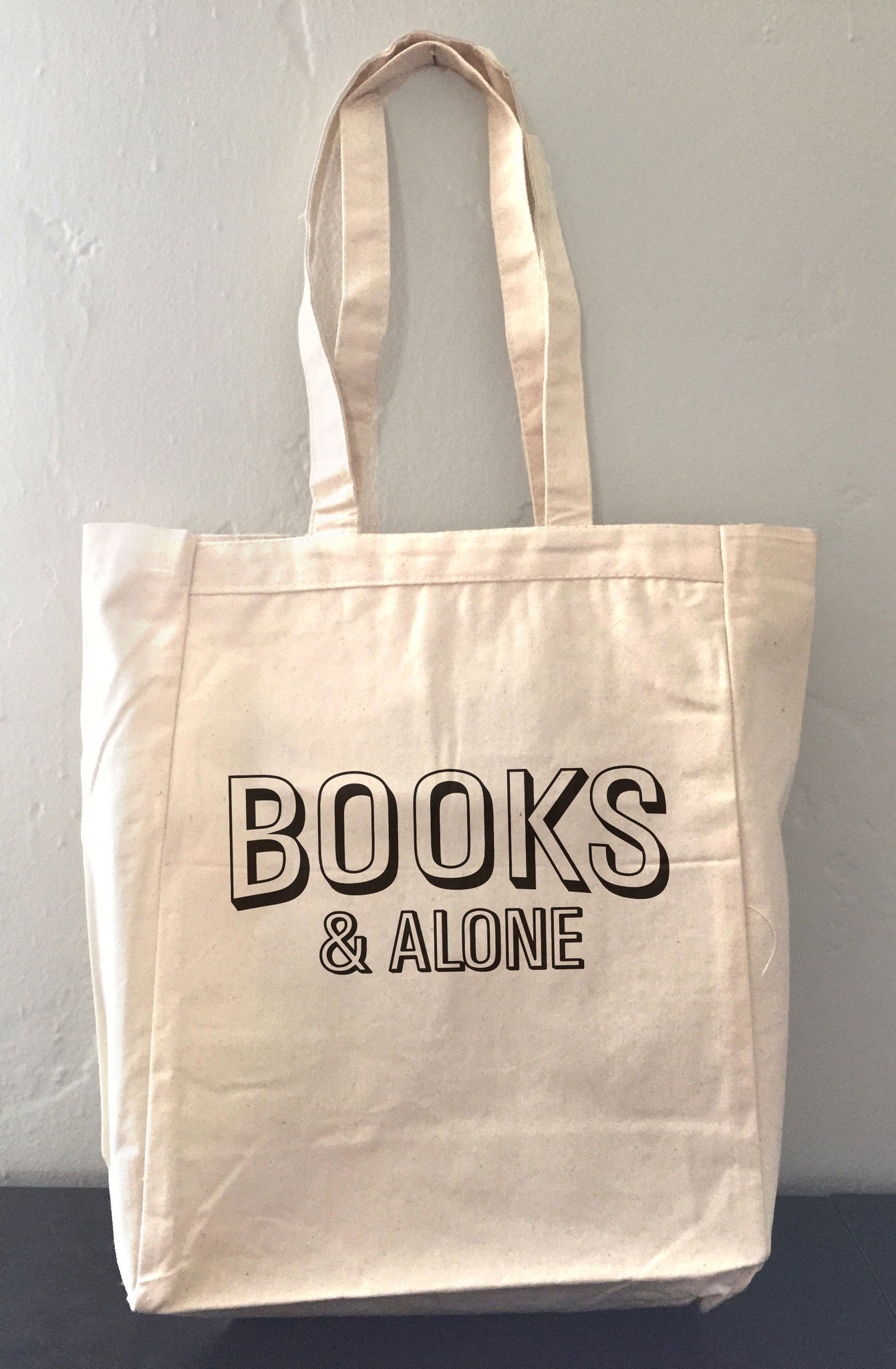 Books Alone Tote Bag