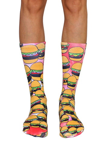 BuzzFeed x Living Royal Burger Socks