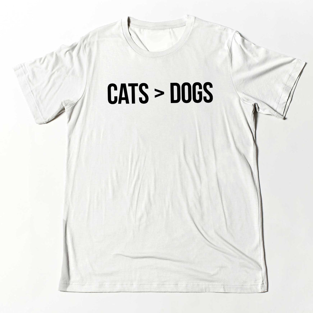 Cats > Dogs Crew Neck T-Shirt