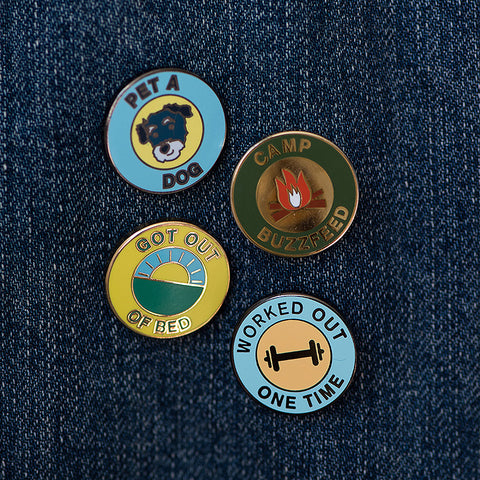 BuzzFeed x Pintrill Merit Badge Enamel Pin Pack