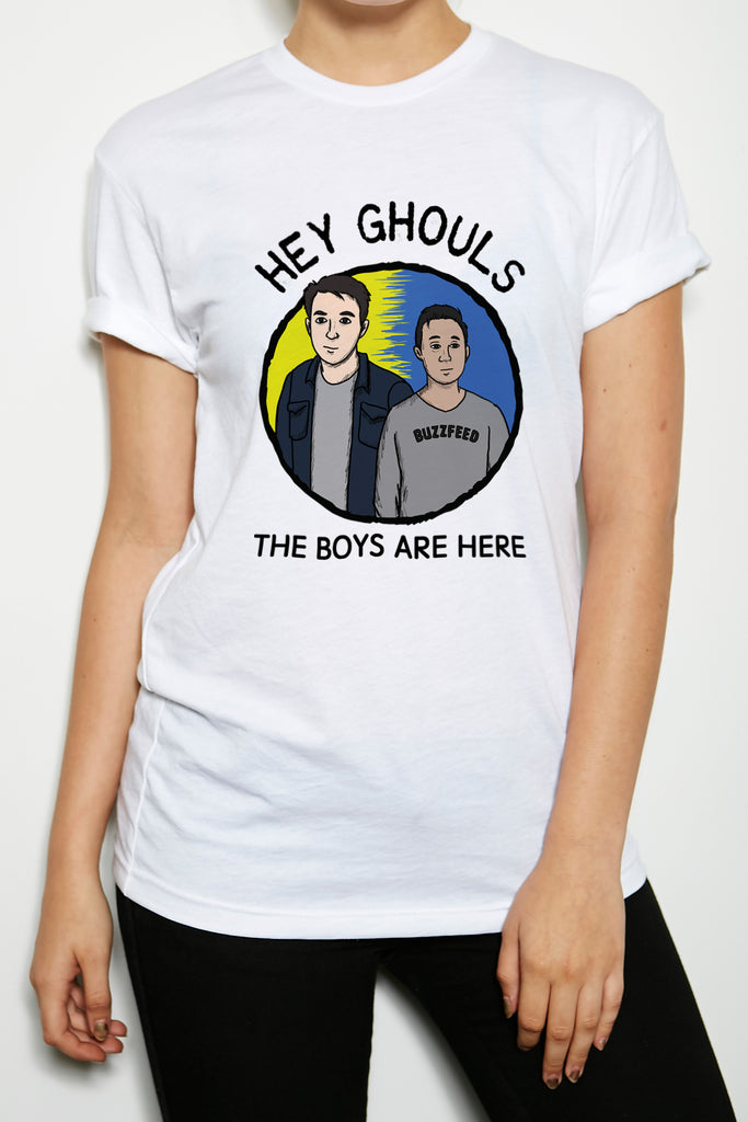 BuzzFeed Unsolved Hey Ghouls Crew Neck T-Shirt