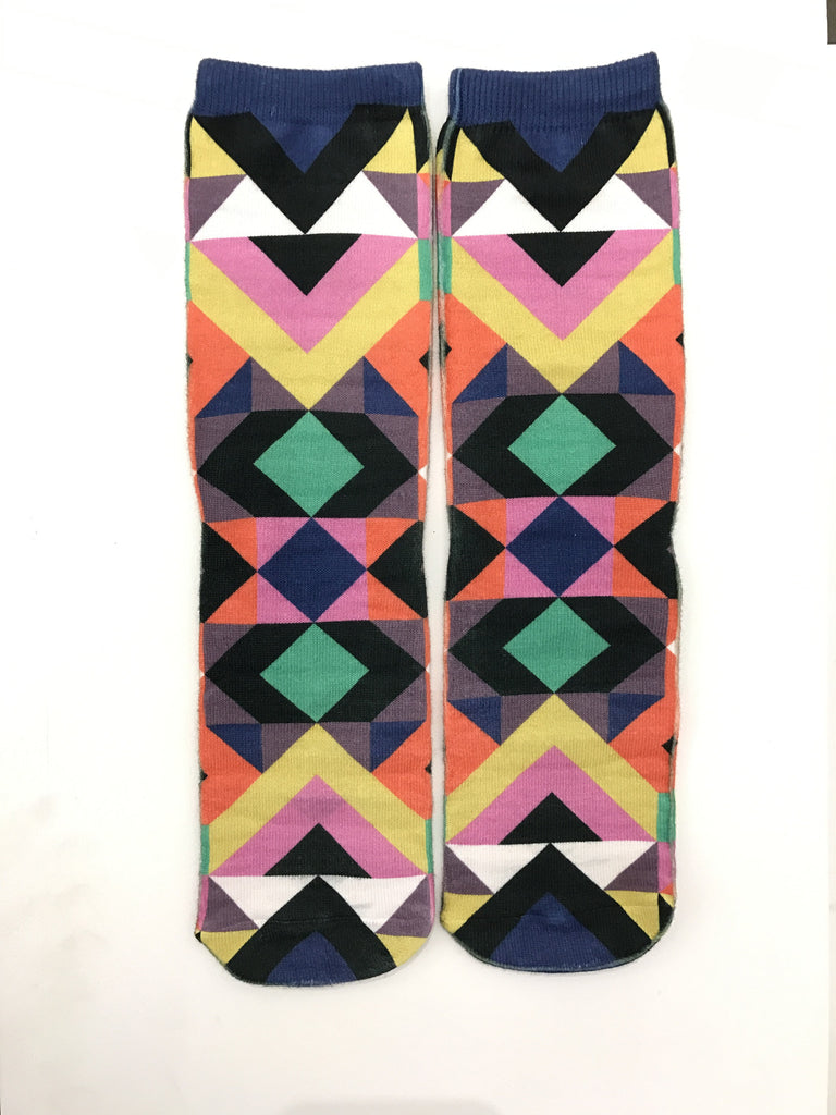 BuzzFeed x Living Royal Aztec Pattern Socks