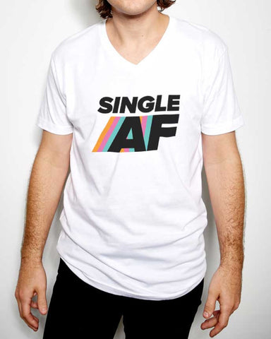 Single AF Crew Neck & V Neck T-Shirt