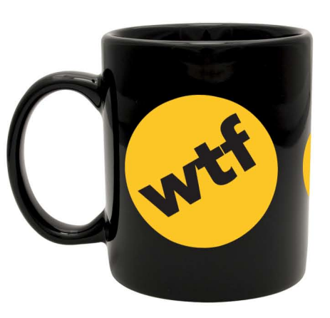 BuzzFeed Multi Badge Mug