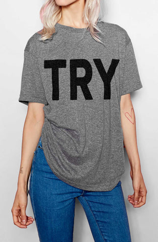 The Try Guys TRY Crew Neck T-Shirt
