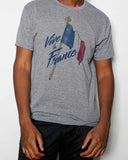 Vive La France Crew Neck & V Neck T-Shirt