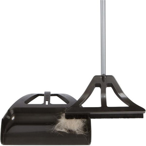 WISPsystem One-Handed Broom with Dustpan
