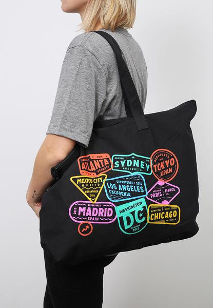 BuzzFeed Location Zip Top Tote Bag
