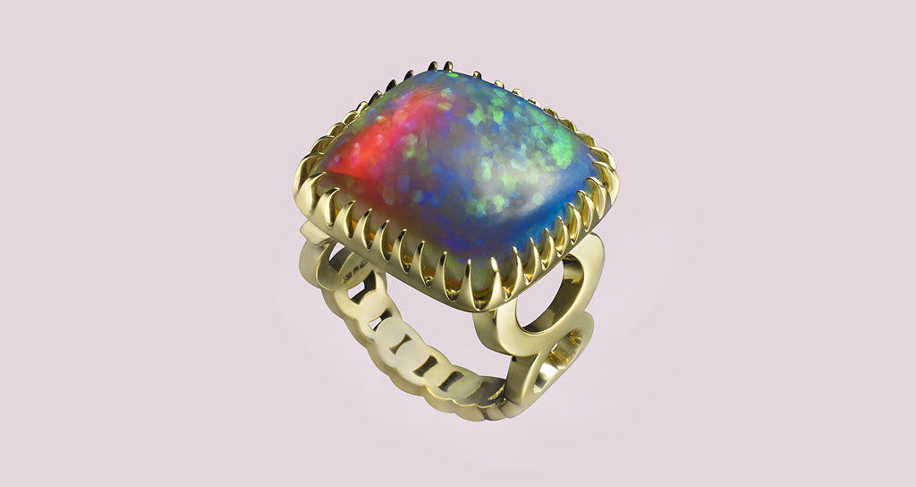 FIREFLY OPAL RING</BR>AVAILABLE TO BUY