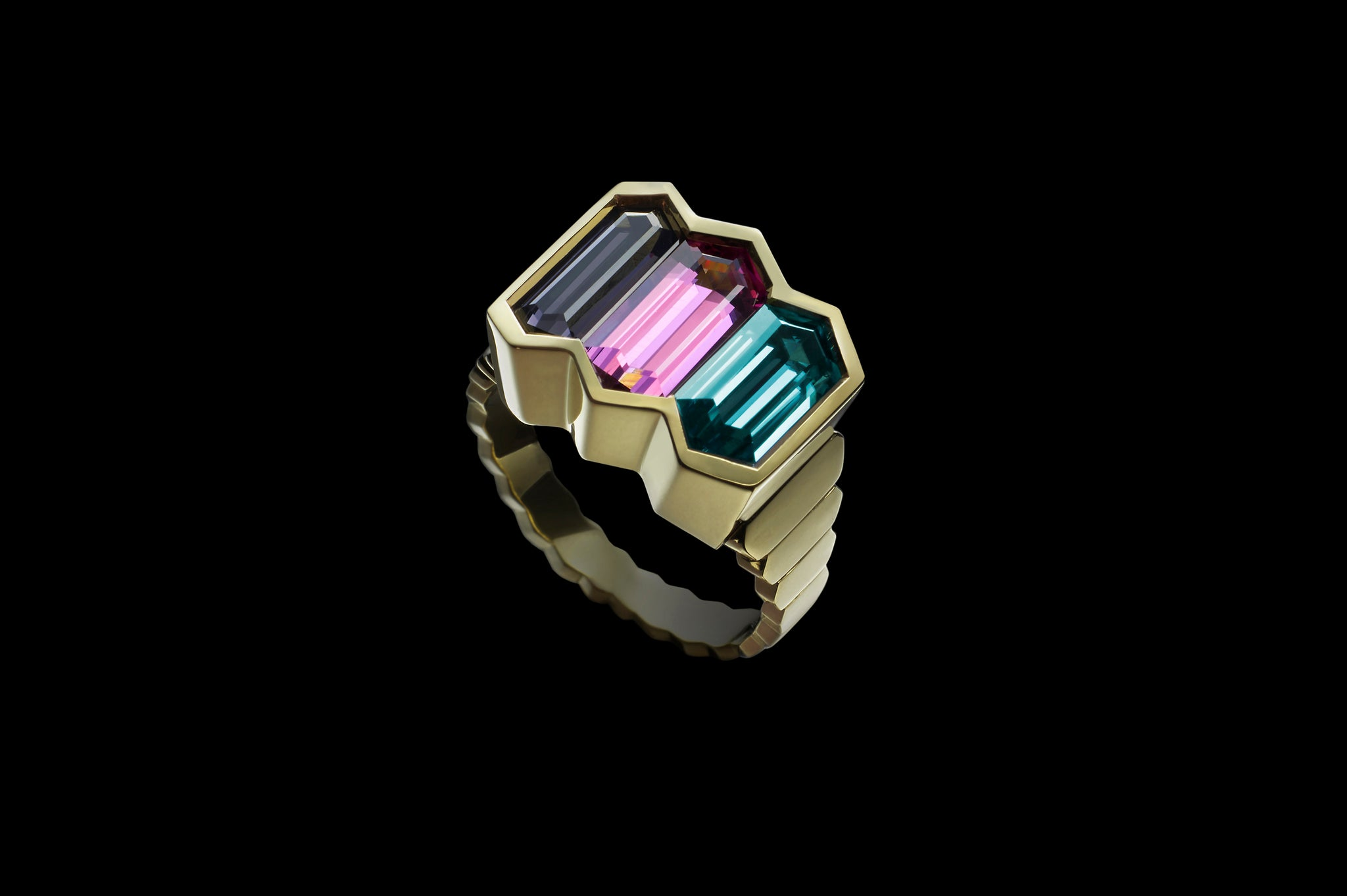 SILVER PINK BLUE RING</br>AVAILABLE TO BUY
