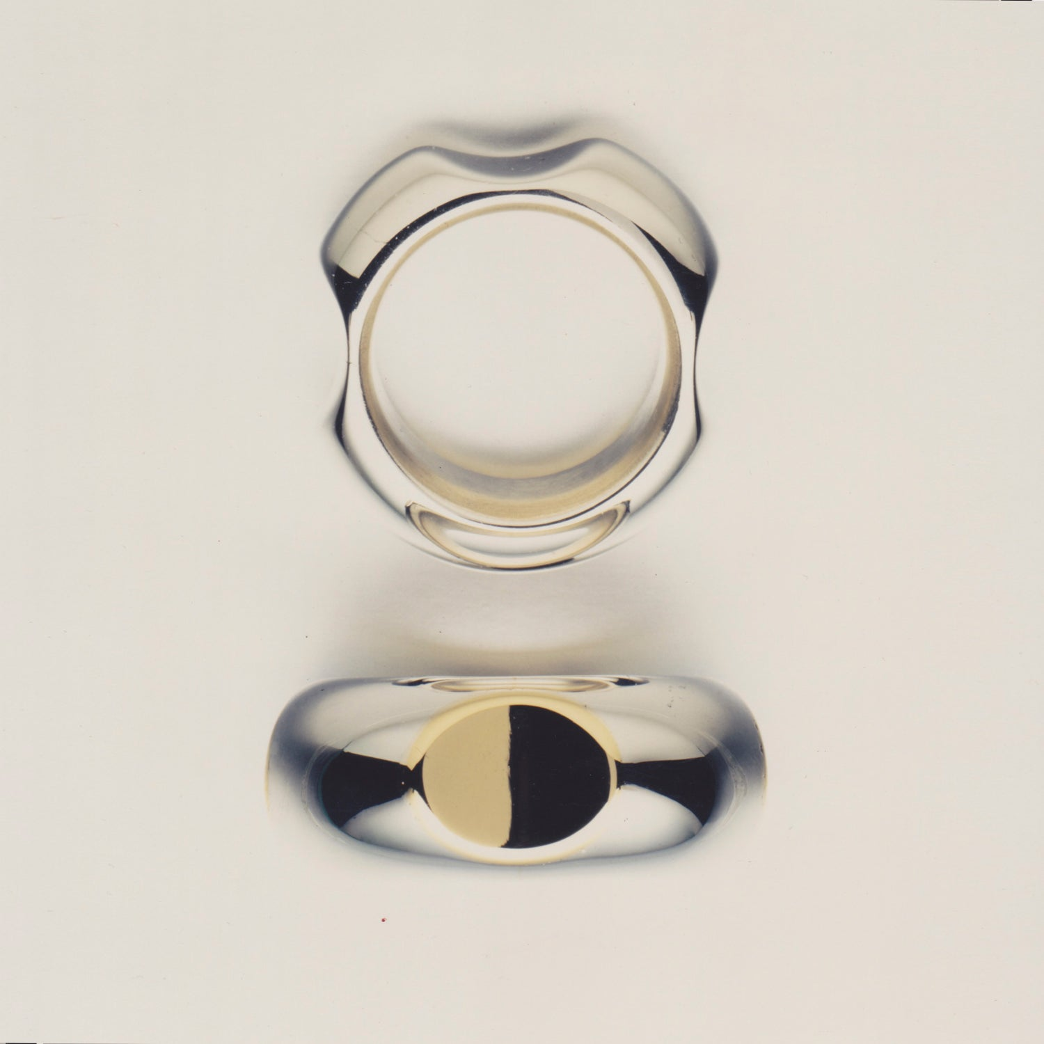 Mans simple heavy rings 1990