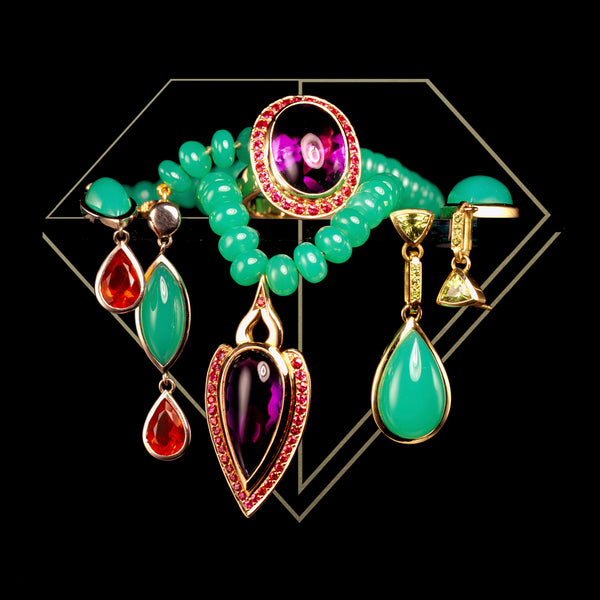 CHRYSOPRASE AND AMETHYSTS