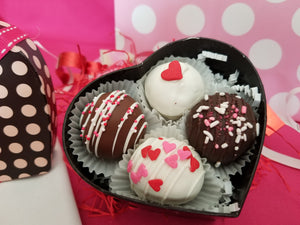 4 pc Polka Dot Heart Gift ( Sold as a set of 3)