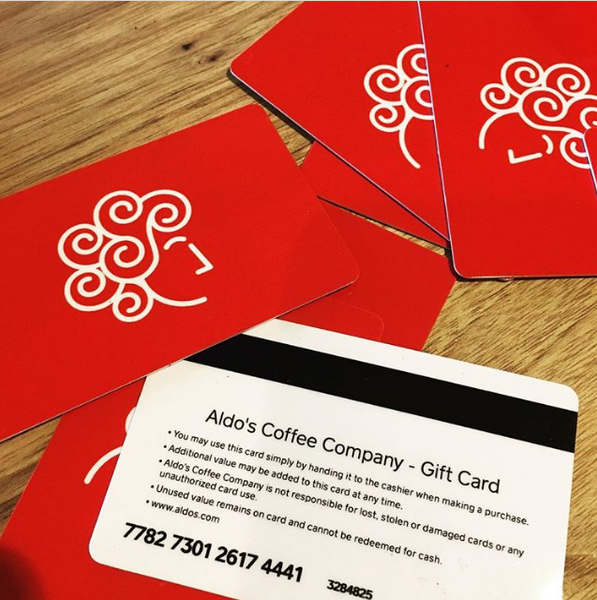 Aldo's Gift Card - For use in our Greenport cafe
