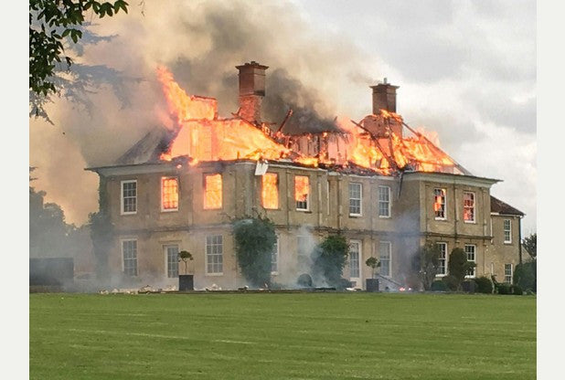 Cosgrove Hall Fire