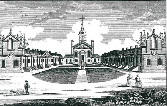 Setting of Trinity Green Almshouses, Whitechapel