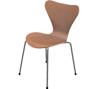 Arne Jacobsen-7'er stol i træ - natural cherry