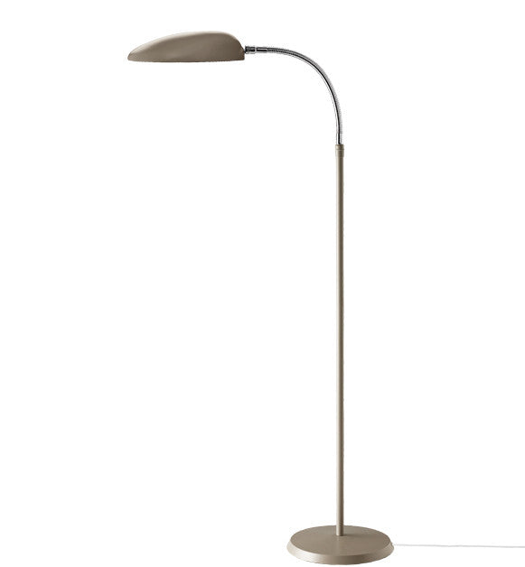 GUBI-GROSSMANN-COBRA-LAMPE-GULV - warm grey & chrome
