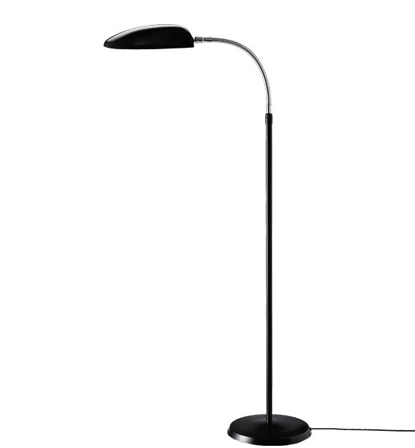 GUBI-GROSSMANN-COBRA-LAMPE-GULV - jet black & chrome