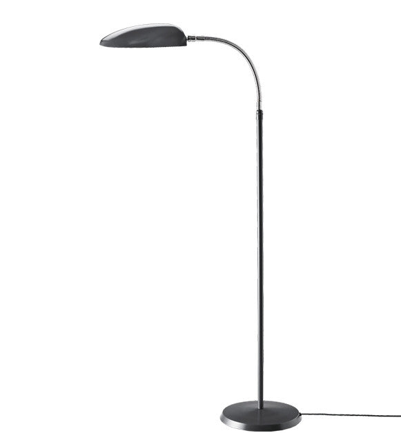 GUBI-GROSSMANN-COBRA-LAMPE-GULV - anthracite grey & chrome