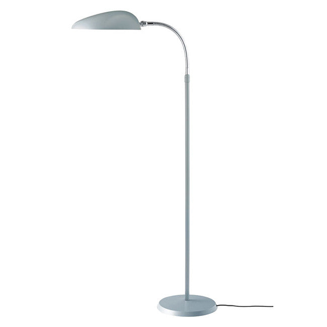 GUBI-GROSSMANN-COBRA-LAMPE-GULV - blue-grey & chrome