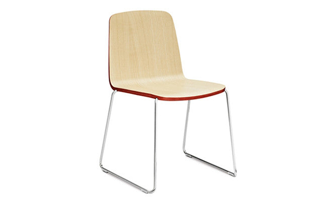 Normann Copenhagen-JUST-stol - ash/red/chrome