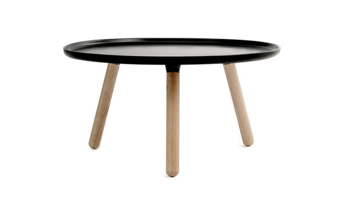 Normann Copenhagen - Tablo large round-bord - black/ash