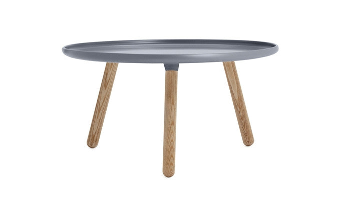 Normann Copenhagen - Tablo large round-bord - grey/ash