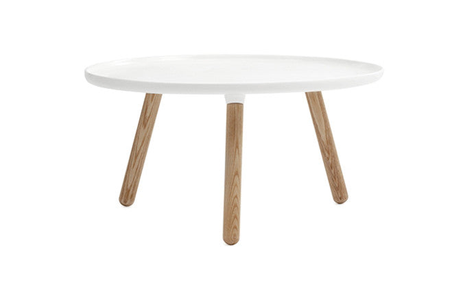 Normann Copenhagen - Tablo large round-bord - white/ash