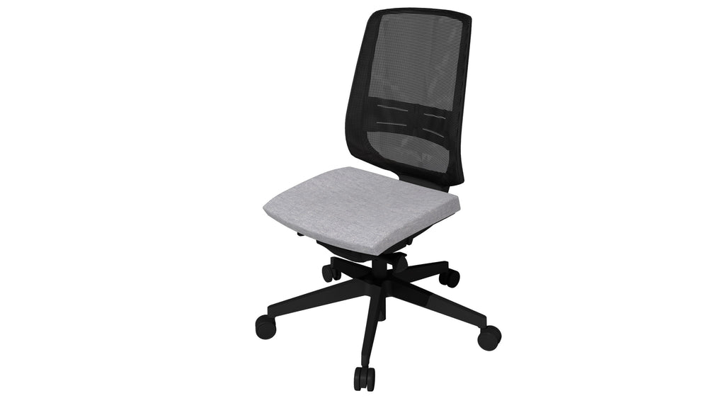 Rumas kontorstol office chair Fly pumpe - light grey fabric (nx-10)