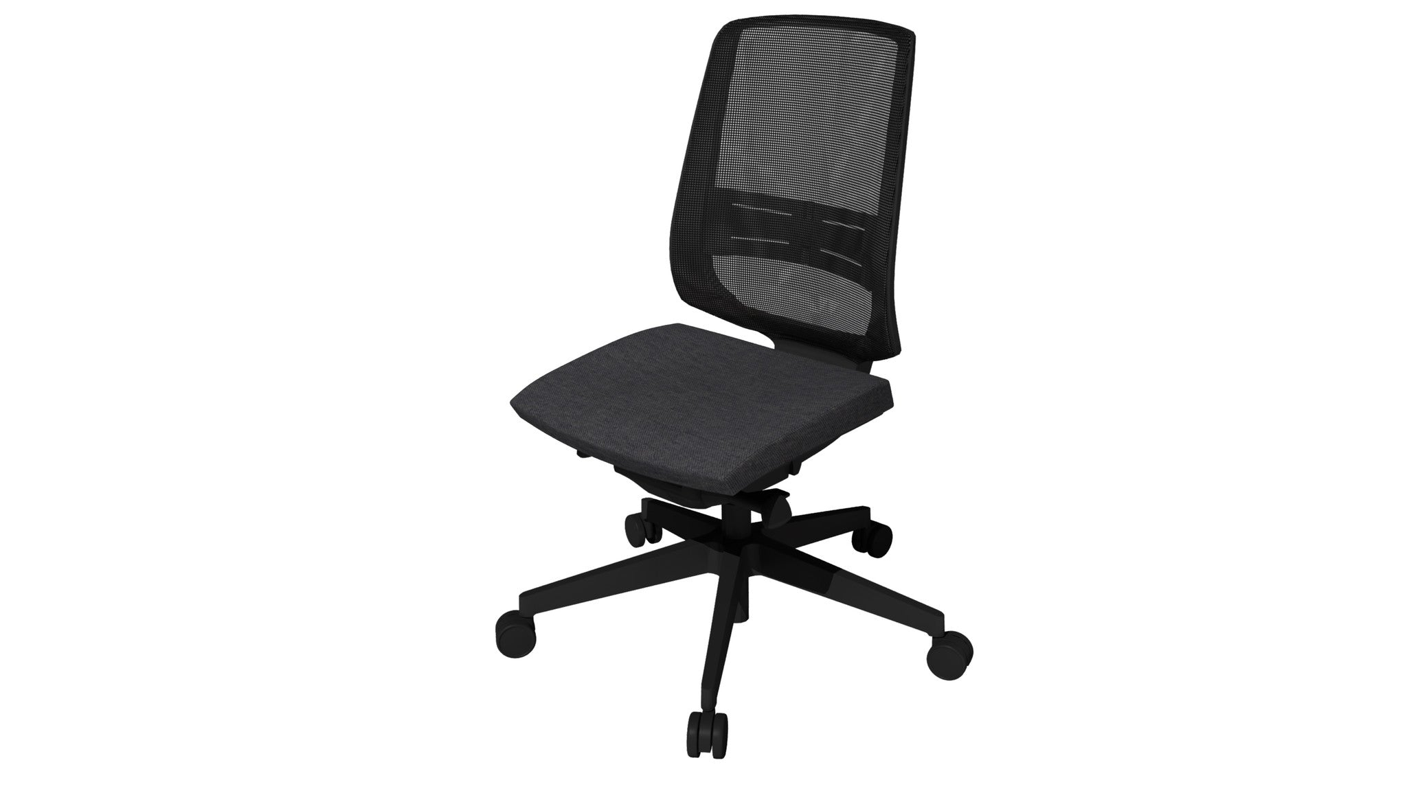 Rumas kontorstol office chair Fly pumpe - dark grey fabric (nx-14)