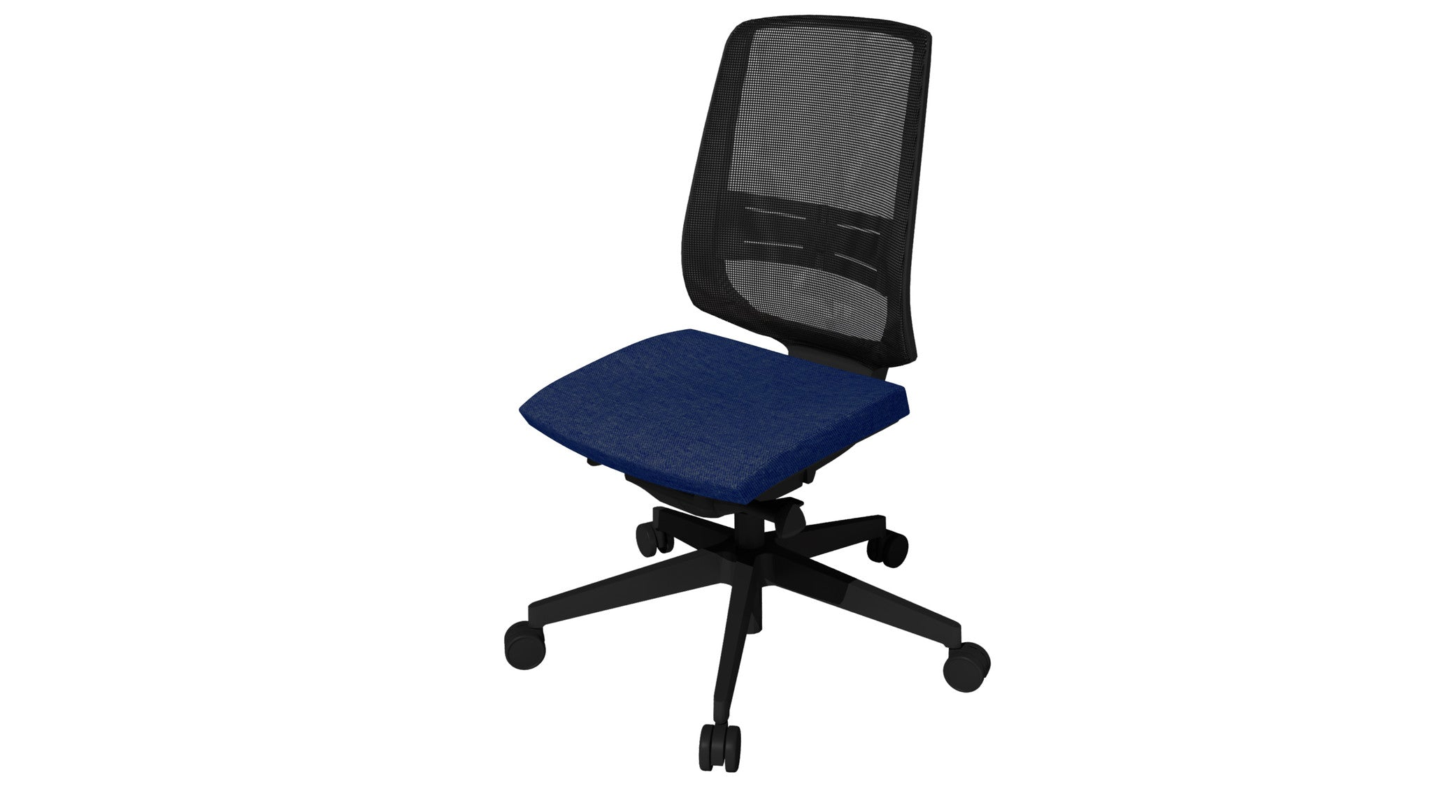 Rumas kontorstol office chair Fly pumpe - blue fabric (nx-15)