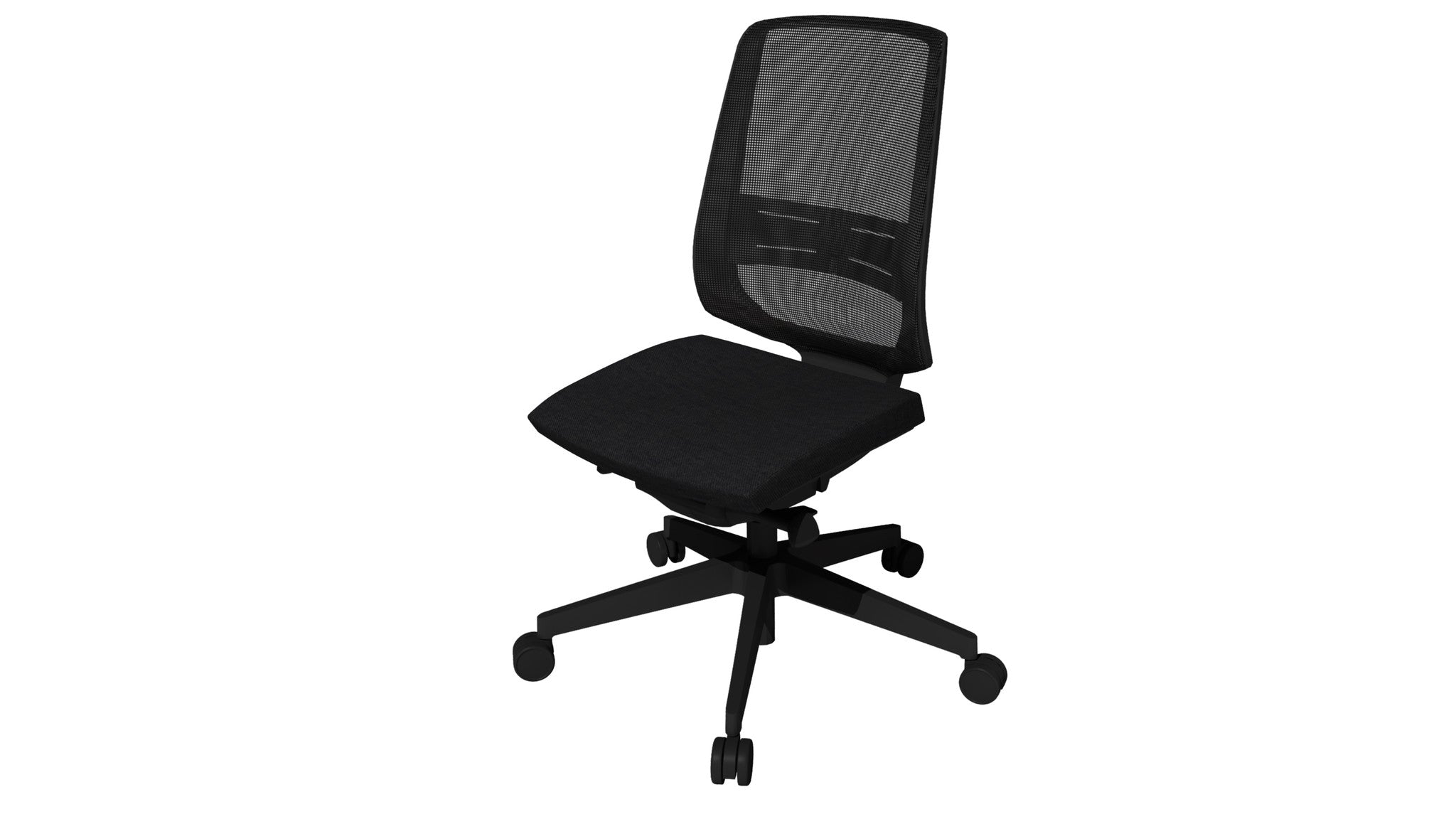 Rumas kontorstol office chair Fly pumpe - black fabric (nx-16)