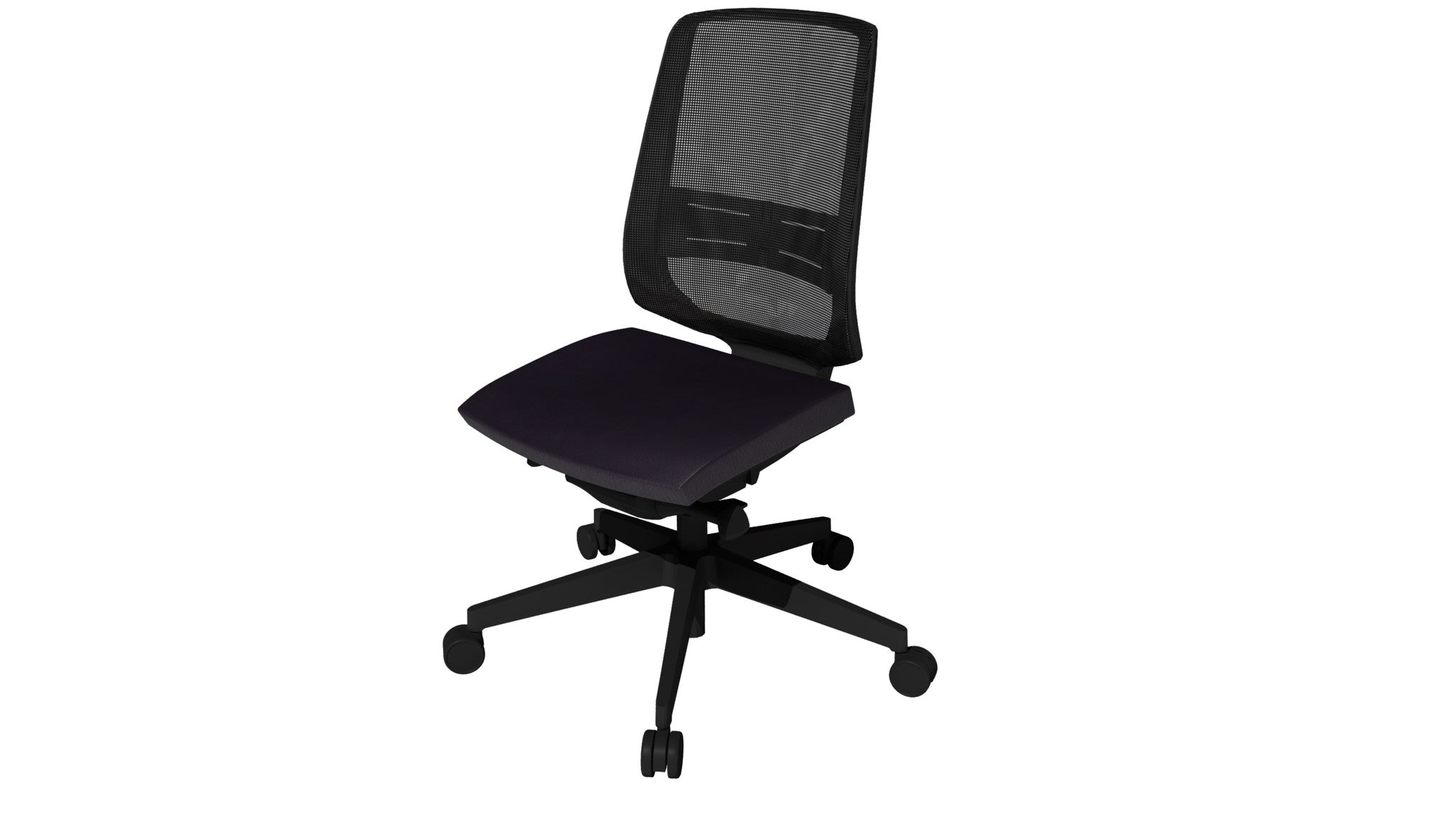 Rumas kontorstol office chair Fly pumpe - black leather (sl-18)