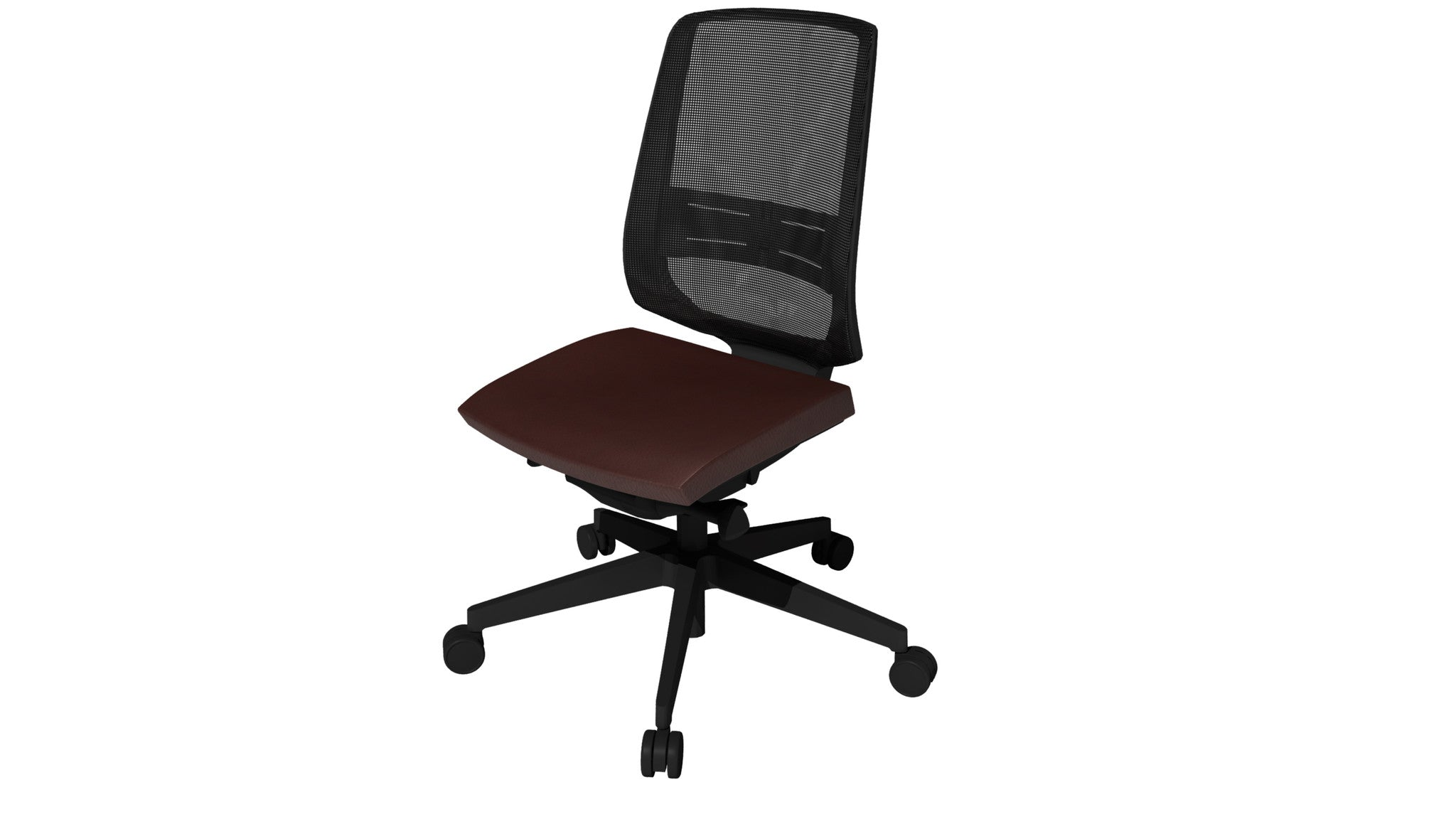 Rumas kontorstol office chair Fly pumpe - dark brown leather (sl-20)