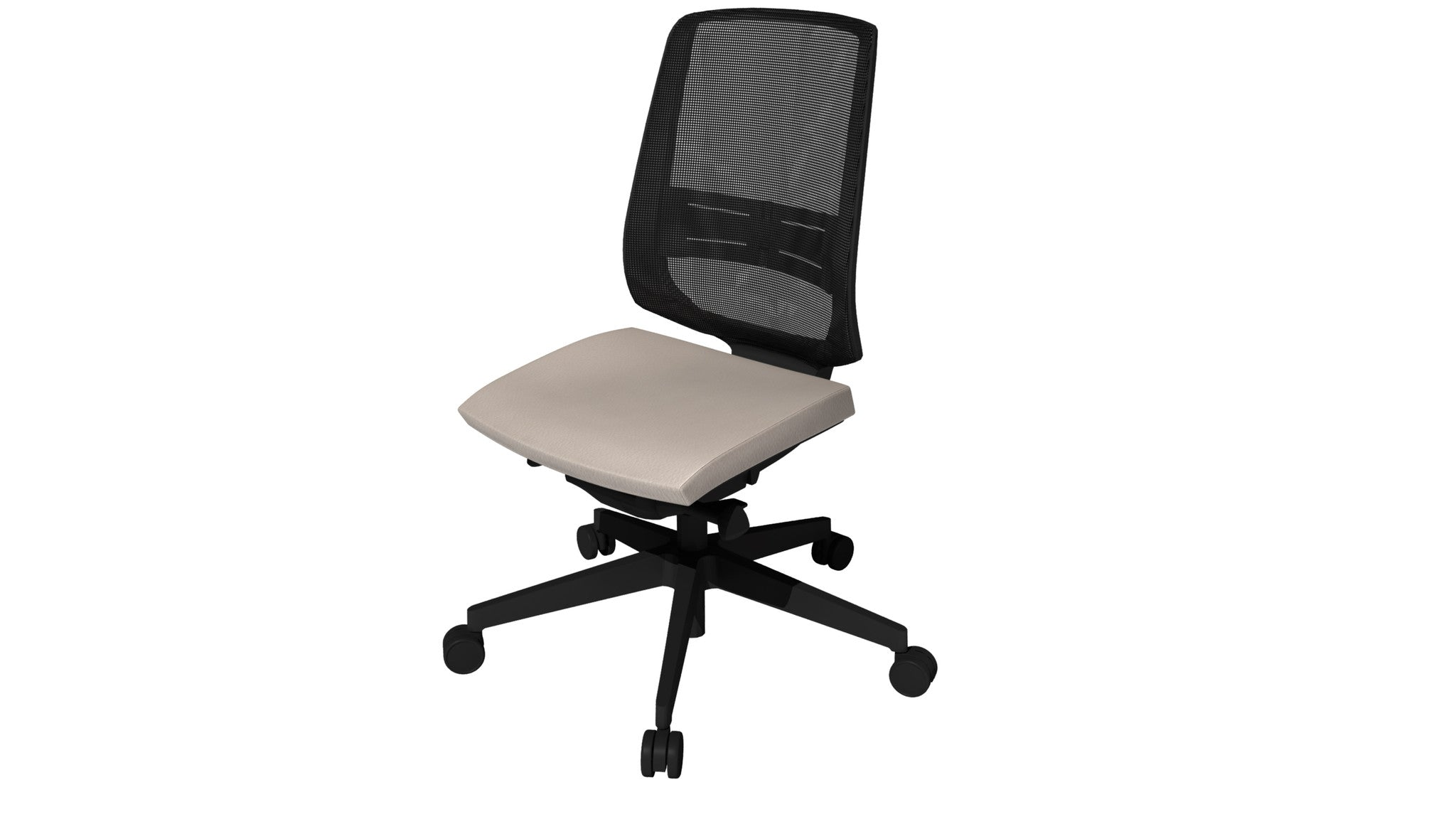 Rumas kontorstol office chair Fly pumpe - grey leather (sl-21)
