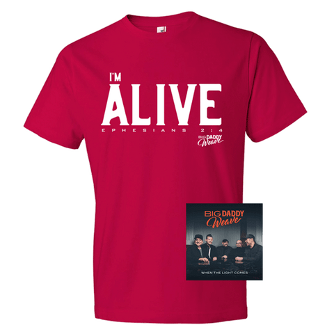 Exclusive Red I'm Alive T-Shirt + Digital Album