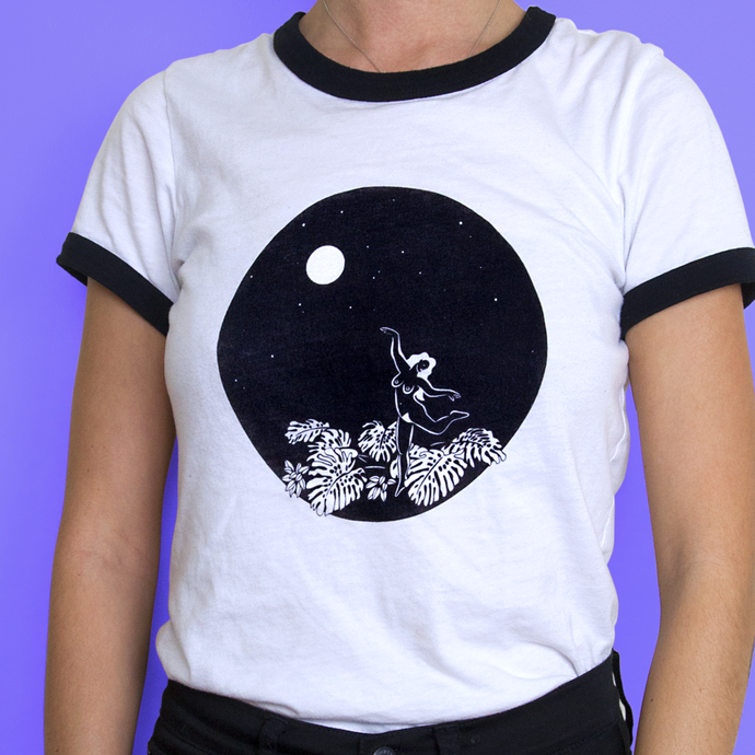 MOON DANCE RINGER TEE