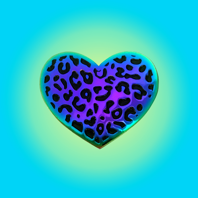 LEOPARD HEART • BLACK