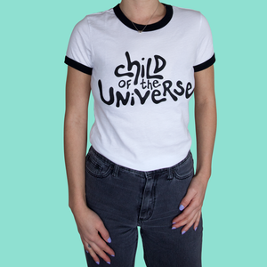 CHILD OF THE UNIVERSE RINGER TEE