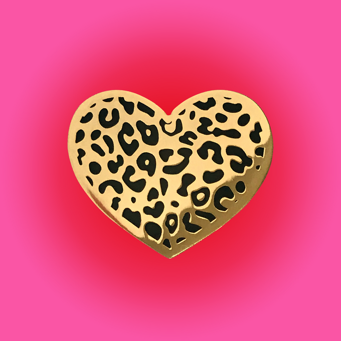 LEOPARD HEART • GOLD