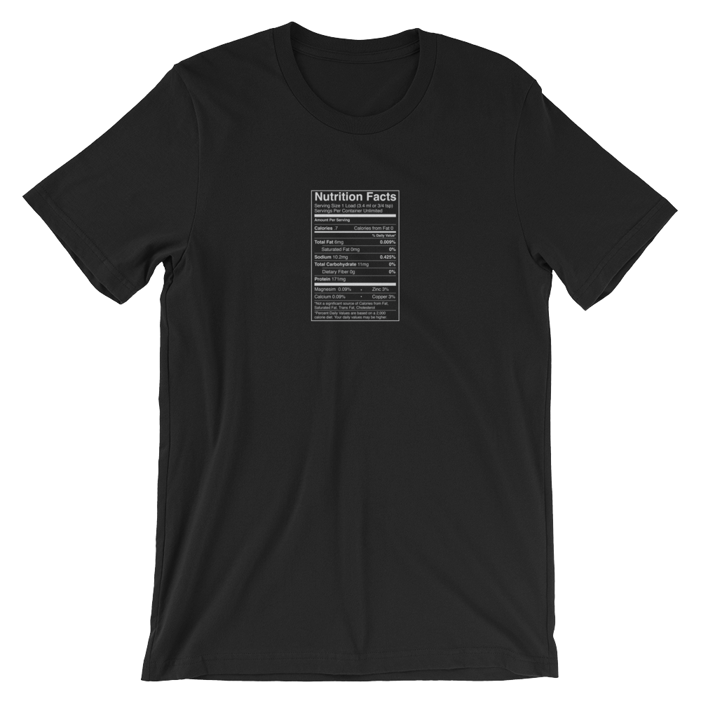 1 Load Nutrition Facts t-shirt