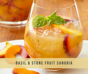 Summer Basil and Stone Fruit Sangria