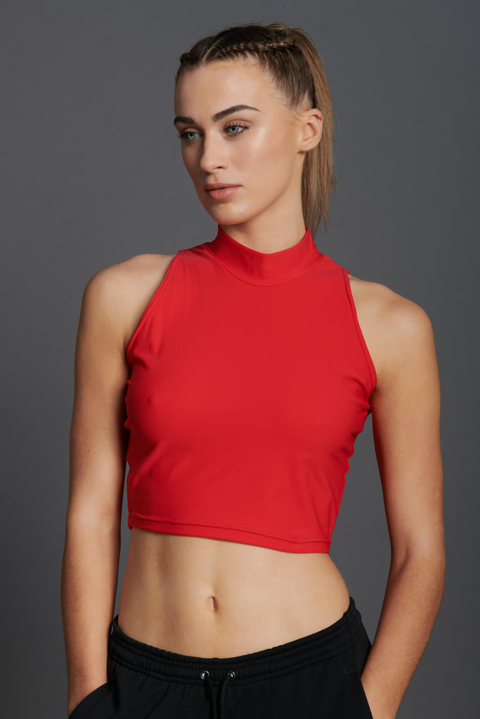 Fierce Sleeveless Crop Top-17