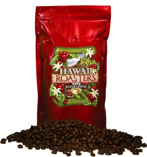 Hawaii Roasters Award Winning 100% Kona Coffee, Whole Bean, Dark Roast, 14-Ounce Bags