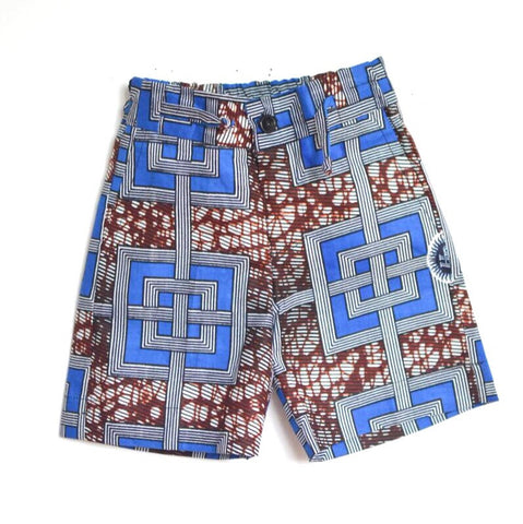InterLox Shorts - Blue/Brown