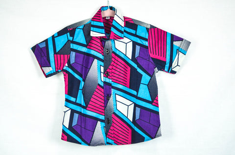 Geo Shirt - Purple/ Pink/ Blue