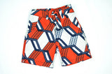 Geo Shorts - Red/White