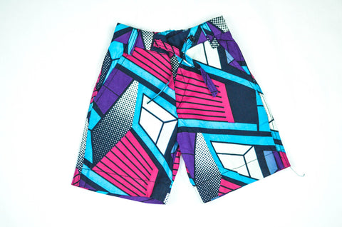 Geo Shorts - Purple/ Pink/ Blue